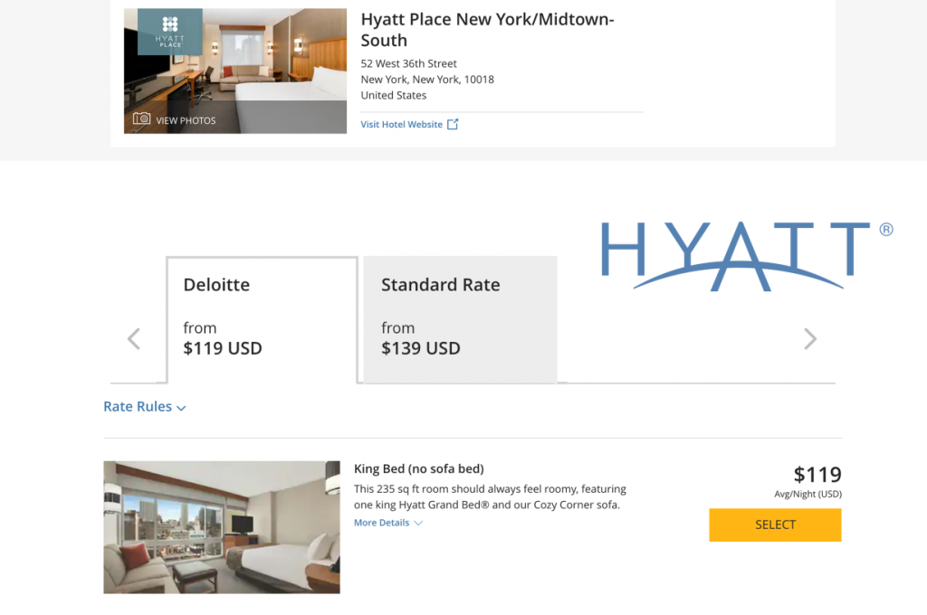 hyatt compare rates