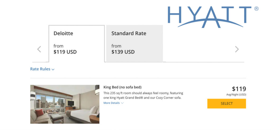 hyatt corporate booking